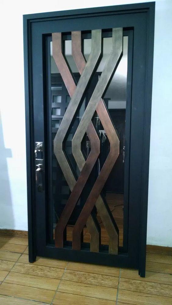 Puertas de herrer a modernas precios decoracion de for Puertas para habitaciones precios