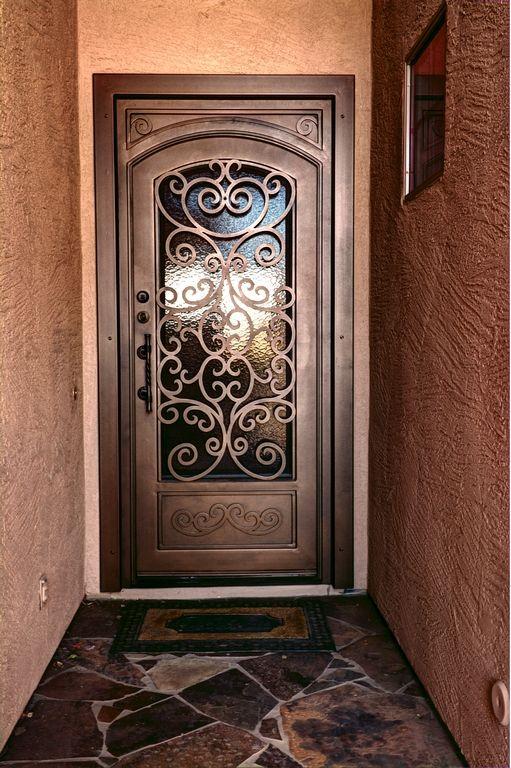 puertas de herrer a sencillas y bonitas decoracion de