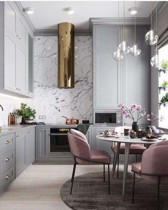 30 ideas para agregar mármol a tu cocina ¡Se vera increíblemente elegante!