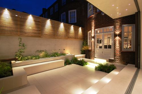 24 fabulosas ideas de iluminacion para el patio o jardin 5 - Iluminacion led exterior jardin ...
