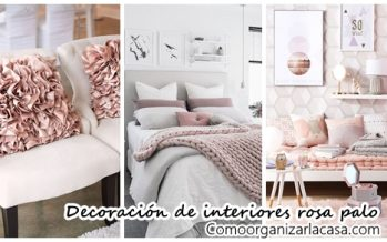 24 Ideas de decoración de interiores en rosa palo