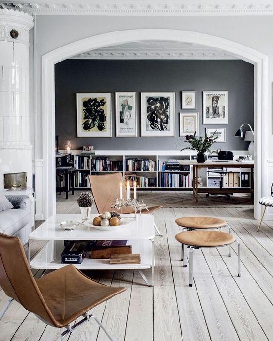 25 disenos e ideas pintar negro una las paredes casa 10 - Pintar las paredes de casa ...