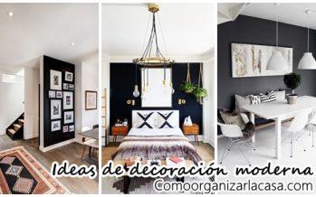 25 Diseños e ideas para pintar de negro una de las paredes de tu casa