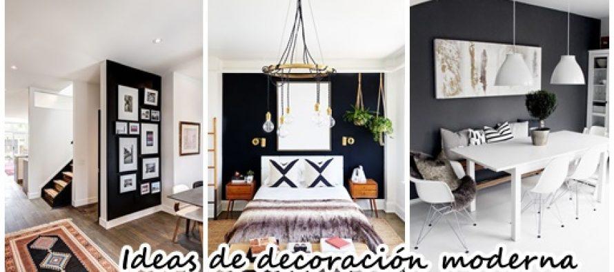 25 dise os e ideas para pintar de negro una de las paredes - Ideas para pintar casa ...