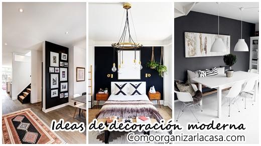 25 dise os e ideas para pintar de negro una de las paredes for Paredes pintadas con disenos