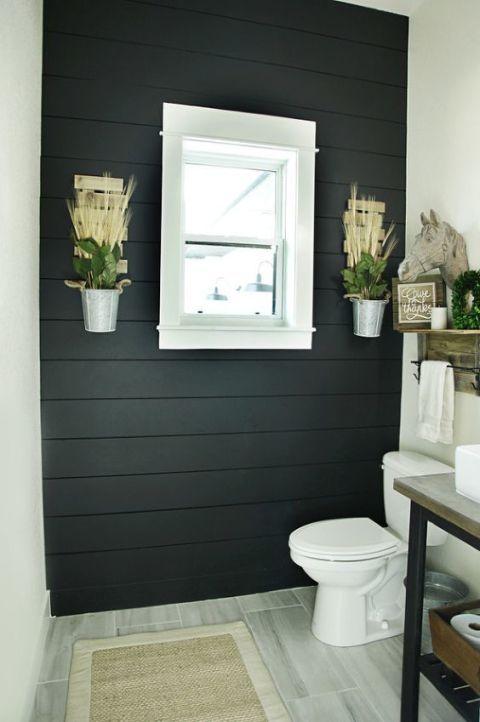 25 disenos e ideas pintar negro una las paredes casa 9 - Ideas para pintar una casa ...