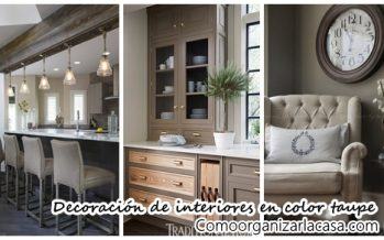 25 ideas para decorar interiores en color taupe