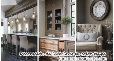 25 ideas para decorar interiores en color taupe