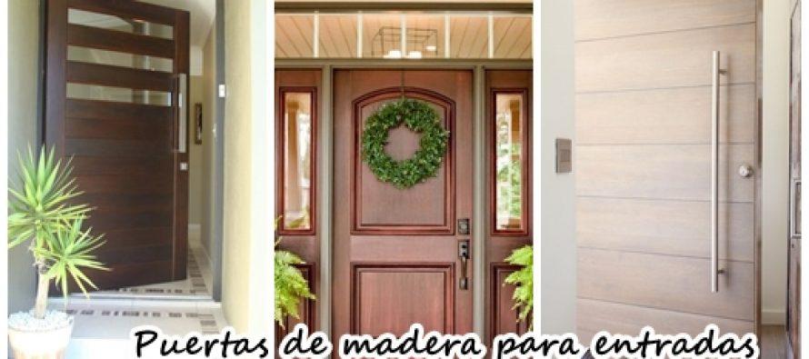 25 puertas de madera para que tu entrada se vea fabulosa for Puertas de madera entrada casa