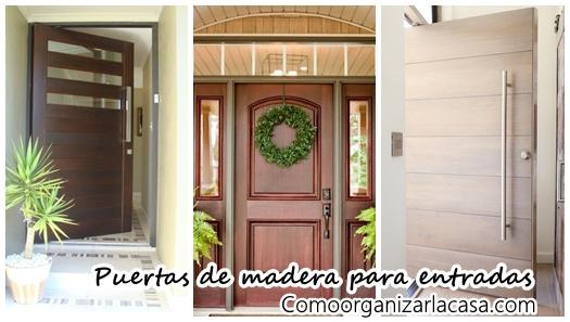 Puertas for Puertas de madera modernas para entrada principal