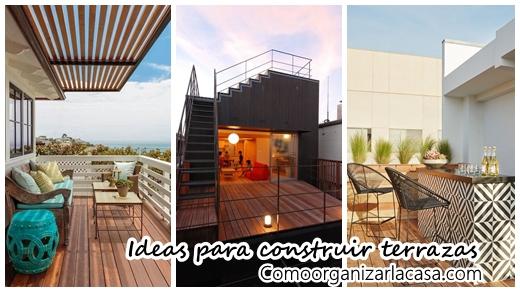 25 terrazas que te van a inspirar a construir una en tu - Como reformar una terraza ...