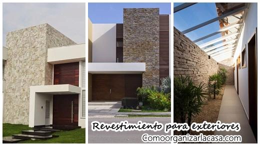 26 fabulosas ideas para revestir tus paredes exteriores - Materiales para fachadas exteriores ...