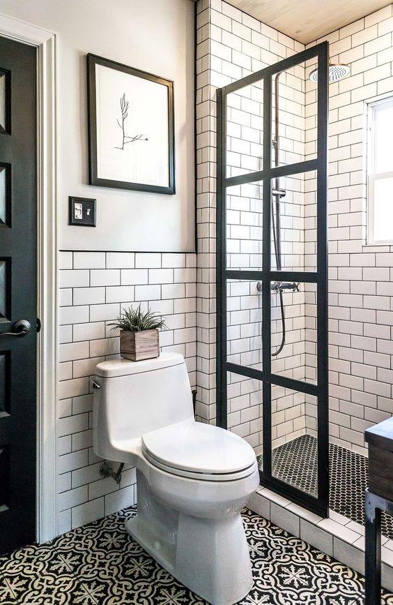 27 banos pequenos modernos toques elegantes 11 for Casas con banos pequenos