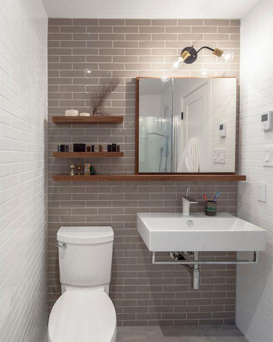 27 banos pequenos modernos toques elegantes 22 - Cuartos de bano modernos y pequenos ...