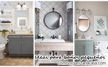 27 baños pequeños modernos y con toques muy elegantes