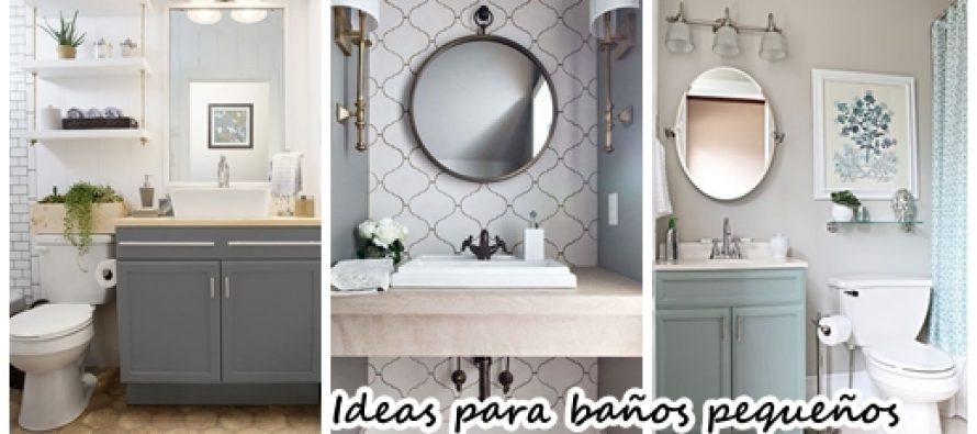 27 baños pequeños modernos y con toques muy elegantes ...