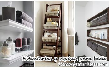 27 estanterías y armarios para baños