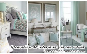 27 ideas de decoración en gris y menta
