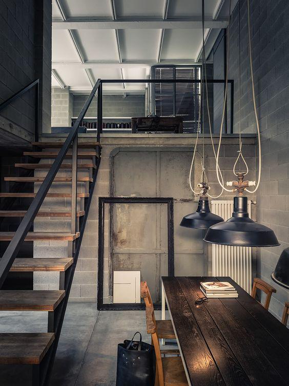 27 ideas decoracion interiores estilo industrial 15 for Cortinas estilo industrial