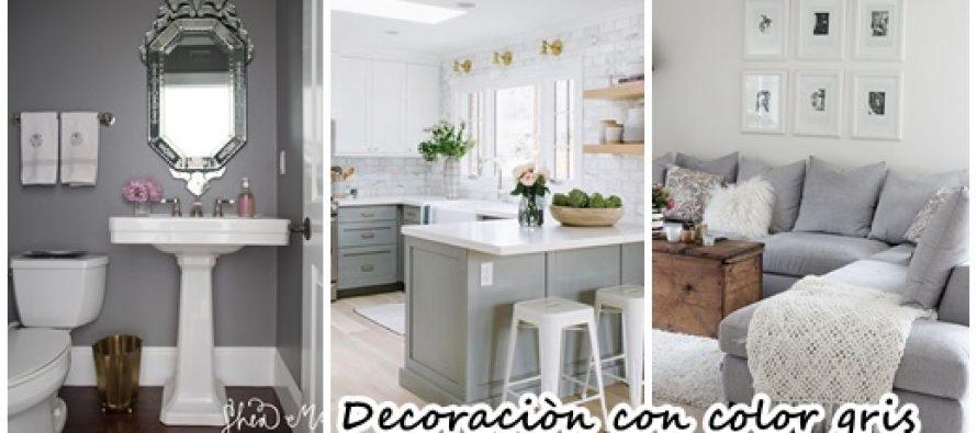 27 maneras de decorar interiores color gris curso de for Decoracion hogar gris
