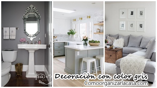 27 maneras de decorar interiores color gris decoracion for Decoracion casa gris