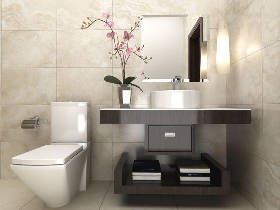 29 disenos banos visitas elegantes 11 como organizar for Disenos de banos para casas pequenas