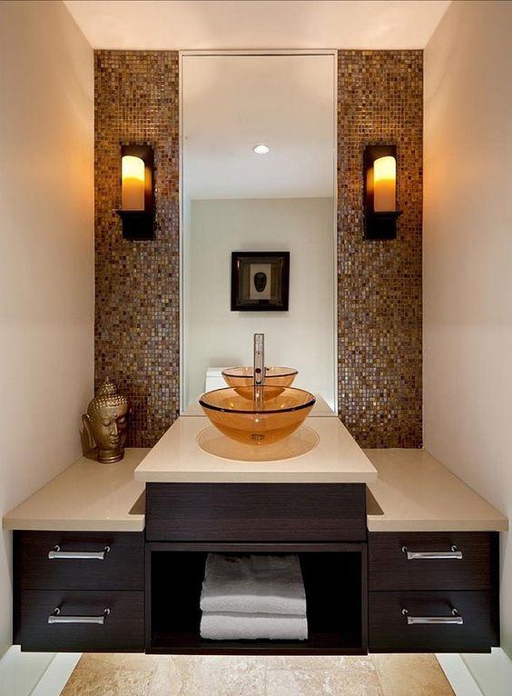 29 disenos banos visitas elegantes 4 decoracion de for Como remodelar un bano muy pequeno