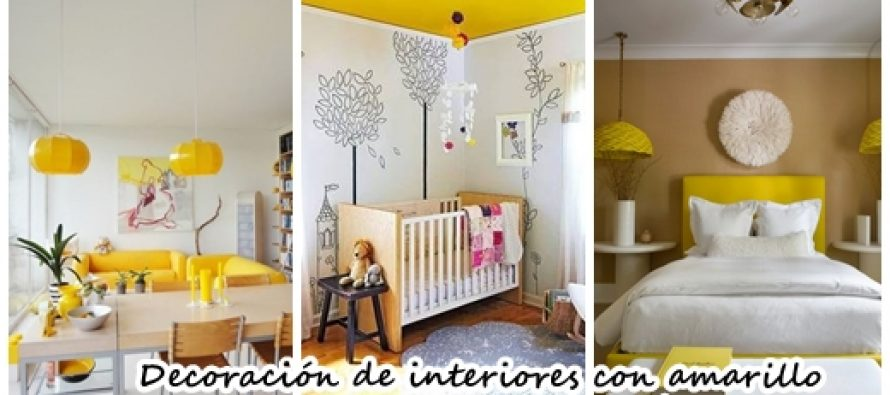 ideas para decoracin de interiores en color amarillo