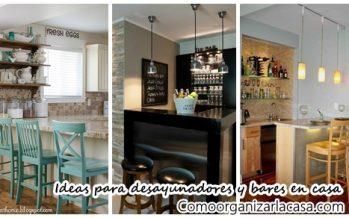 30 Barras o mini bares que puedes poner en tu casa si es pequeña