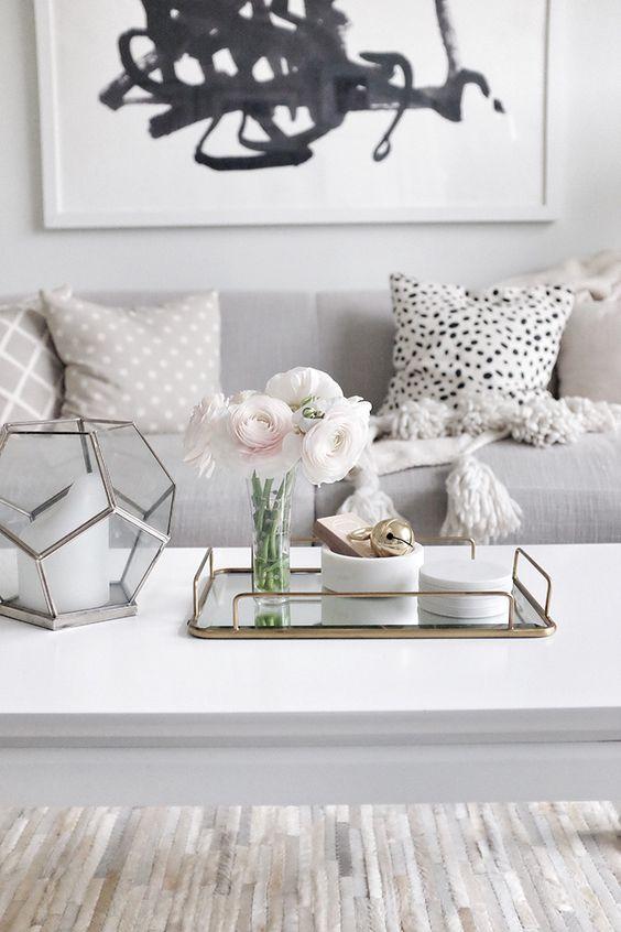 30 ideas para decorar tu hogar con gris y blanco