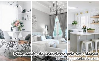 30 ideas para decorar tu hogar con gris y blanco