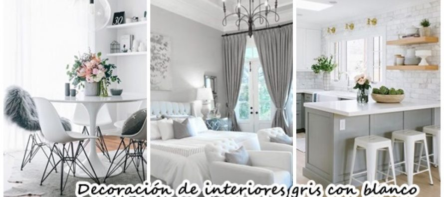ideas para decorar tu hogar con gris y blanco