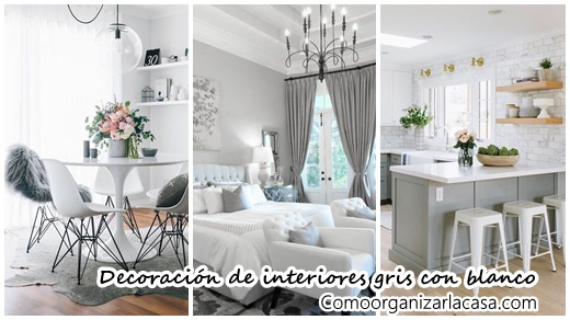 30 ideas para decorar tu hogar con gris y blanco for Ideas para decorar tu hogar reciclando