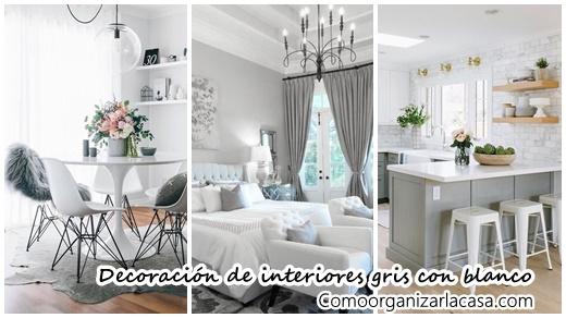 30 ideas para decorar tu hogar con gris y blanco for Decoracion hogar gris