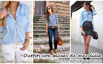 30 outfits para copiar con blusas de mezclilla