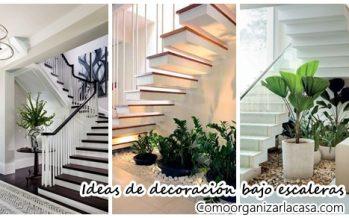 32 fabulosas ideas para decorar el espacio bajo la escalera
