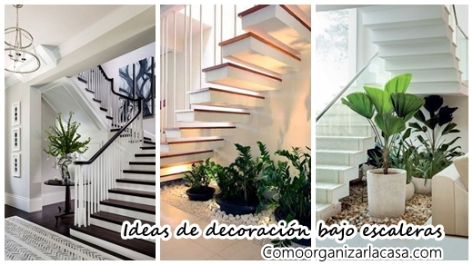 32 fabulosas ideas para decorar el espacio bajo la for Ideas para decorar interiores de casas