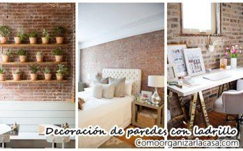 34 ideas fabulosas para decorar tus paredes con ladrillo