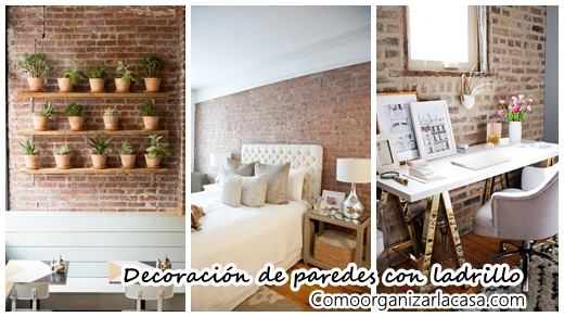 34 ideas fabulosas para decorar tus paredes con ladrillo ...