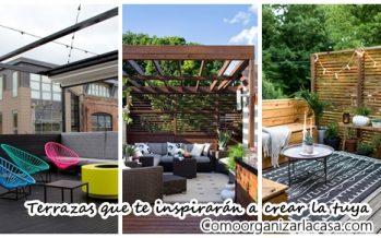 37 terracitas que te van a inspirar a remodelar la tuya ya