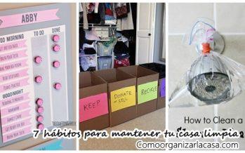 7 hábitos para mantener tu casa ¡siempre limpia!