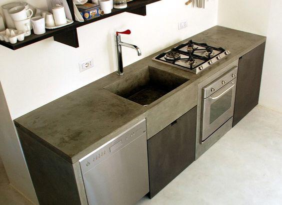 Disenos cocinas revestidas cemento pulido 10 for Cocinas de concreto modernas