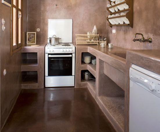 Disenos cocinas revestidas cemento pulido 17 for Cocinas en cemento