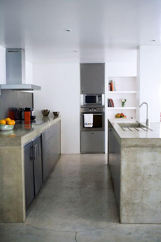 Disenos Cocinas Revestidas Cemento Pulido 24