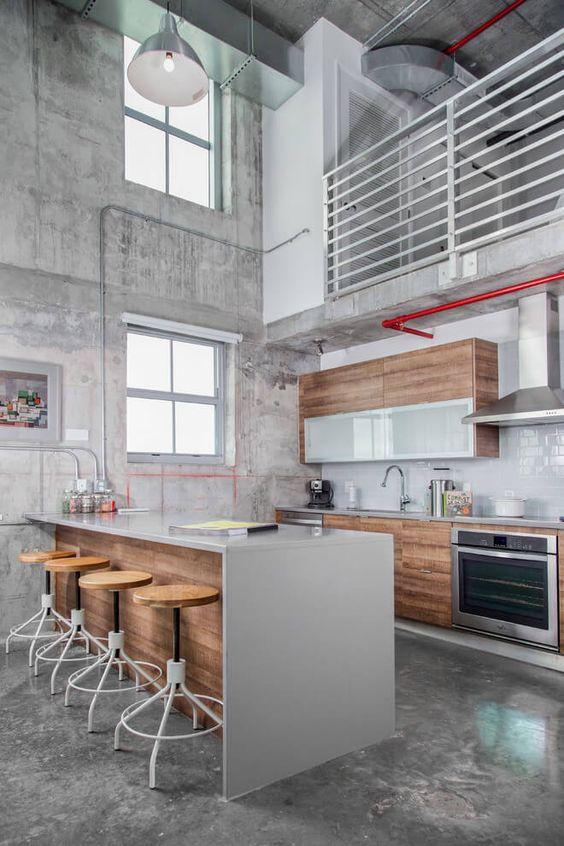 Disenos cocinas revestidas cemento pulido 3 decoracion for Fachadas de cocinas