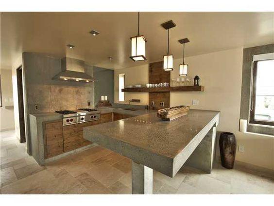 Disenos cocinas revestidas cemento pulido 5 decoracion for Cocinas de concreto modernas