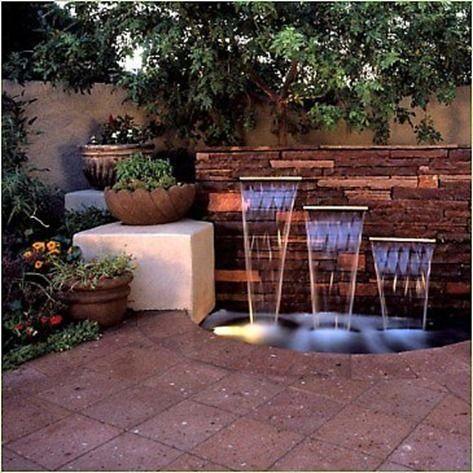 Disenos fuentes haran patio se vea moderno 14 - Fuentes para patios ...