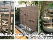 Diseños de fuentes que harán que tu patio se vea moderno