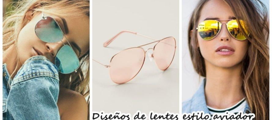Diseños de lentes estilo aviador