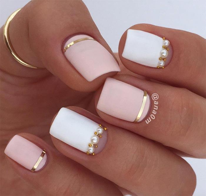 Diseños de uñas cortas naturales